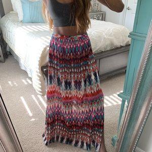 Dresses & Skirts - Multi-colored Pattern Maxi Skirt
